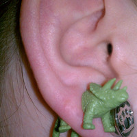 Monoclonius Dinosaur Earrings