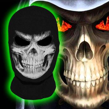 CREY6F The Grim Reaper Scare Skull Ghost Death Halloween Balaclava Full Face Mask Airsoft Costume Headwear Motorcycle Military Army