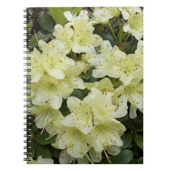 Yellow Rhododendrons Floral Spiral Notebook