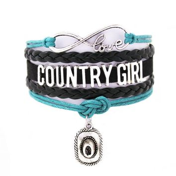 Country Girl Music Charm Bracelet