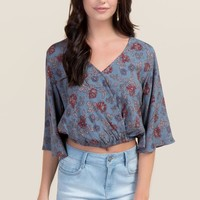 Bridgette Floral Surplus Top