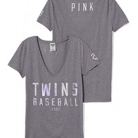 Minnesota Twins Fitted V-Neck Tee
