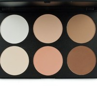 Cosmetics Professional 6 Colors Contour Face Power Foundation Makeup Palette