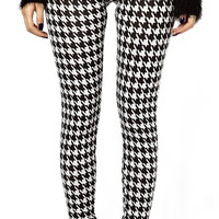 Black and white houndstooth leggings size small