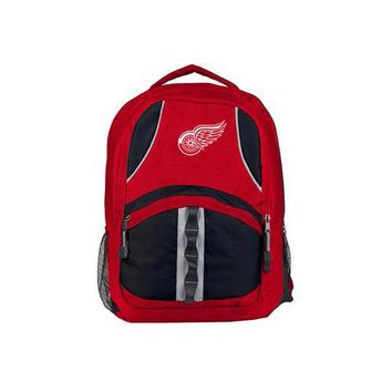 Detroit Red Wings NHL Captain Backpack (Red/Black)