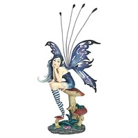 SheilaShrubs.com: Sapphire, The Pepperwand Fairy Statue QS232725 by Design Toscano: Garden Sculptures & Statues