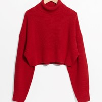 & Other Stories | Knit Turtleneck Sweater | Red