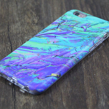 Crystal Stone Marble Tough Protective iPhone 6s Case iPhone 6 plus S7 Edge SE Snap Case 3D 215