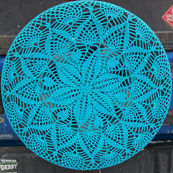 Spiral Pineapple Crochet Spare Tire Cover