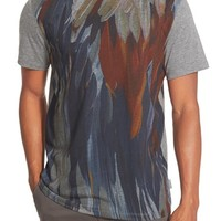 Men's Ted Baker London 'Woodpeck Feather Print' Graphic T-Shirt,