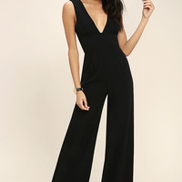 Fashion Faithful Black Wide-Leg Jumpsuit
