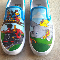 Custom Hand Painted Shoes - Dumbo