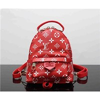 """Louis Vutitton×Supreme"" Women Casual Fashion Personality Logo Letter Backpack Mini Double Shoulder Bag"