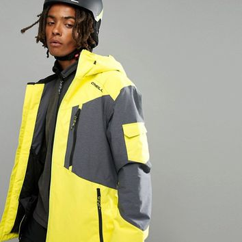 O'Neill Cue Ski Jacket in Neon Yellow at asos.com