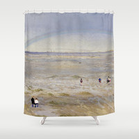 Coastal scene Shower Curtain by anipani