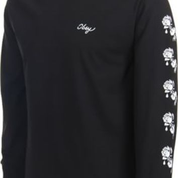 Obey Shackle Rose L/S T-Shirt - black - Men's Clothing > Shirts > T-Shirts > Long Sleeve T-Shirts