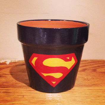 Superman Planting Pot Man of Steel