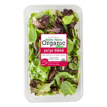 Taylor Farms Organic 50/50 Blend Baby Spring Mix & Baby Spinach - 16oz