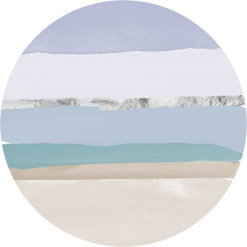 Sandy Beach Circle Wall Decal