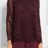 Adam Lippes - Pleated lace top