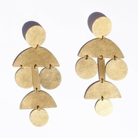 Annie Costello Brown - Pom Pom Chandelier Earrings - All