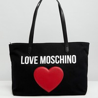 Love Moschino Canvas Tote Bag at asos.com