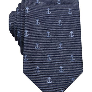 Bar III Carnaby Collection Anchor Neat Slim Tie