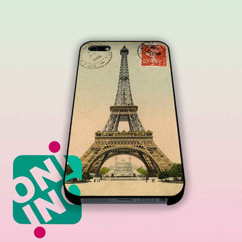 Eiffel Tower Postcard vintage iPhone Case Cover | iPhone 4s | iPhone 5s | iPhone 5c | iPhone 6 | iPhone 6 Plus | Samsung Galaxy S3 | Samsung Galaxy S4 | Samsung Galaxy S5