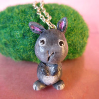 Easter Bunny necklace custom animal totem FREE by FlowerLandShop