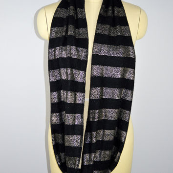 Express Infinity Scarf Black Silver