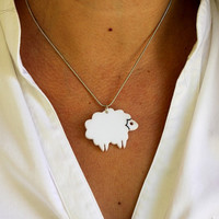 Mini Lamb NecklacePlexiglass JewelryLasercut AcrylicGifts by bugga