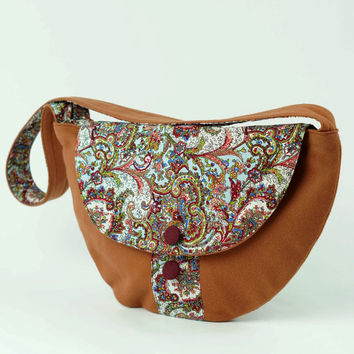 Floral Bag Purse, Shoulder Bag Medium Handbag Floral Pattern Bag