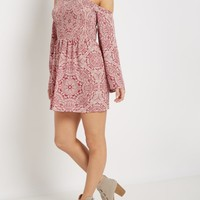 Bohemian Smocked Cold Shoulder Dress | Casual Dresses | rue21