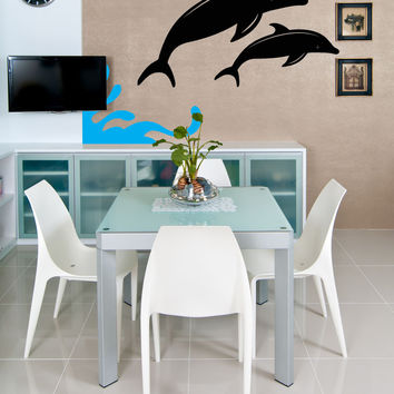 Vinyl Wall Decal Sticker Dolphins #OS_MB355