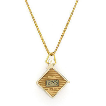 Luxury Pendant Watch - Gold Stripes