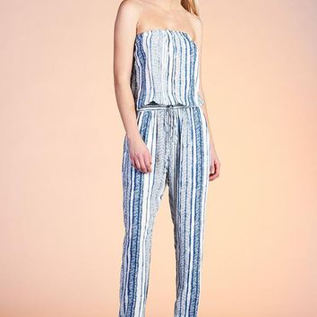 Women's Printed Strapless Jumpsuit
