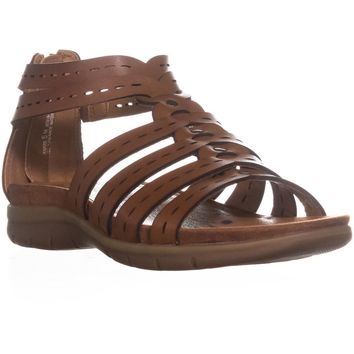 BareTraps Kaiser Strappy Flat Sandals, Brush Brown, 6 US
