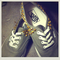 Studded vans  by Textstyless on Etsy