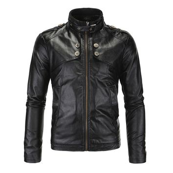 Trendy Herobiker Motorcycle Jackets Men Vintage Retro PU Leather Jacket Racing Biker Punk Classical Casual Bomber Windproof Moto Jacket AT_94_13