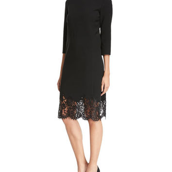 Lafayette 148 New York Mya Lace-Hem Dress