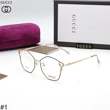 GUCCI Tide brand large frame men and women irregular polygon flat mirror #1