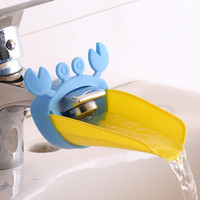 Cute Bathroom Sink Faucet Chute Extender Crab Children Kids Washing Hands 4 colors