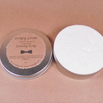 Mens shaving soap, mens shaving cream, shaving soap, whipped shaving soap, handmade soap shaving soap, foaming soap, shea butter soap