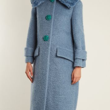 Faux-shearling trimmed mohair-blend bouclé coat | Miu Miu | MATCHESFASHION.COM US