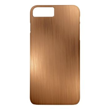 Brushed Copper Look iPhone 7 Plus Case