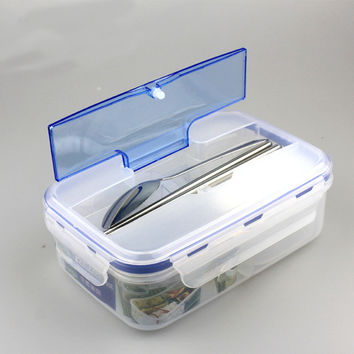 Happy Modern Ecofriendly Outdoor Portable Microwave Meal Bags with Soup Bowl Chopsticks Spoon Food Containers Feature: