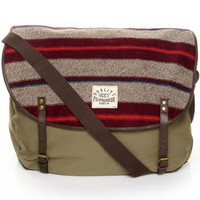 Obey Uptown Messenger Bag - Canvas Bag - Army Green Bag - $61.o00