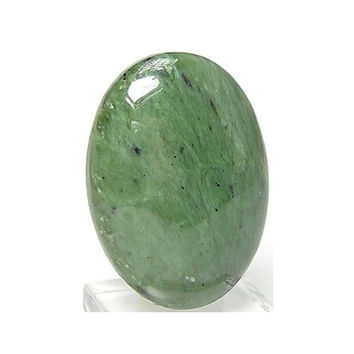 Green Natural Nephrite Jade Oval Cabochon 35 carats 30x22 mm