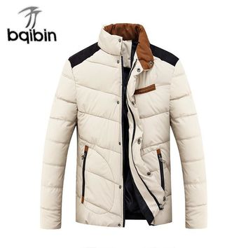 2017 Brand Mens Winter Jackets And Coats Thicken Warm Jacket Men Coat Hooded Cotton-Padded Male Clothing Hommer Parkas 3XL