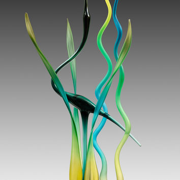 Dancing in the Marsh by Warner Whitfield and Beatriz Kelemen (Art Glass Sculpture) | Artful Home